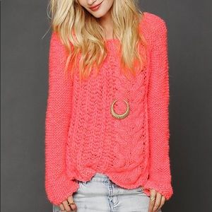 Free People chunky asymmetrical sweater
